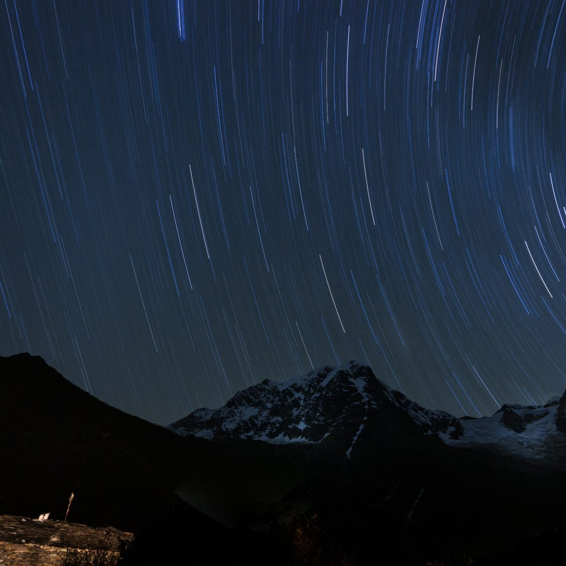 stars over mountains